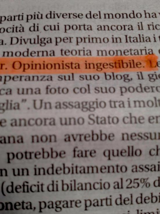 """DA MORTO A IMMORTALE: """"OPINIONISTA INGESTIBILE""""."""